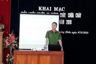 VQG Phong Nha – Kẻ Bàng: Huấn luyện nghiệp vụ phòng cháy, chữa cháy và cứu nạn, cứu hộ năm 2018